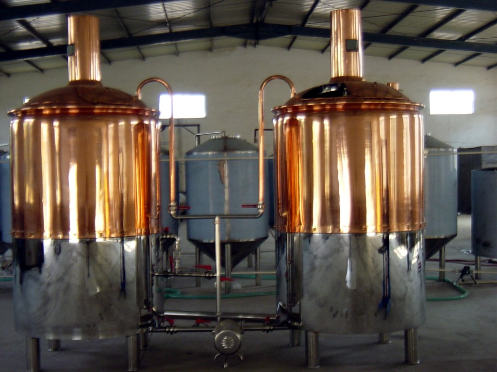 500l REDCOPPER COVERED BREWHOUSE 3 VESSEL